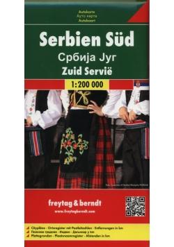 Serbia część południowa mapa samochodowa 1:200 000