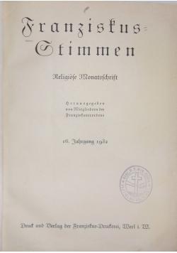 Franzistkus=Gtimmen, 1932r.