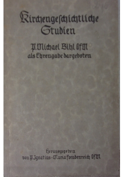 Kirchengeschichtliche  Studien, 1941r.