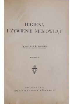 Higiena i żywienie niemowląt, 1947r.