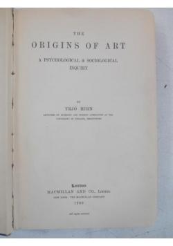 Hirn Yrjo - The Origins of Art, 1900 r.