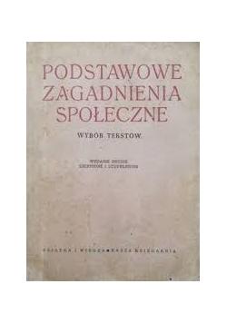 Podstawowe zagadnienia społeczne, 1949 r.