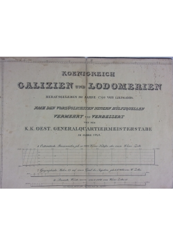 Galizien und Lodomerien, 1824 r. UNIKAT.