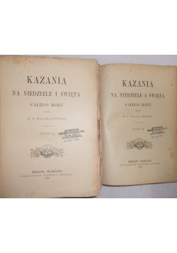 Kazania roczne odświętne / Kazania roczne niedzielne, 1884 r.