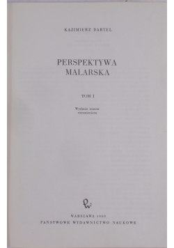 Perspektywa malarska, Tom I