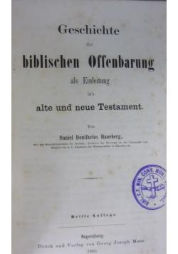Geschichte der biblischen Offenbarung  1863 r.