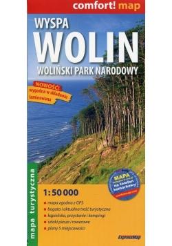 Wyspa Wolin Woliński Park Narodowy mapa turystyczna 1:50 000