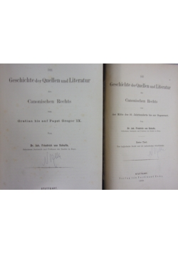 Geschichte der Quellen und Literatur ,2 tomy  ,1875r.