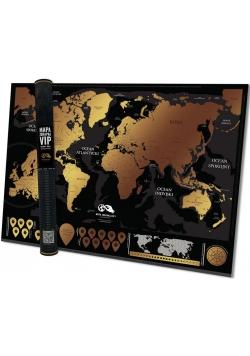 Mapa zdrapka Świat VIP