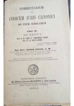 Commentarium in codicem iuris Canonici, 1942 r.