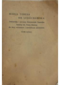 Marja Teresa Hr. Ledóchowska, 1923r.