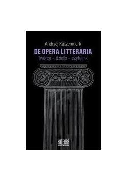 De opera litteraria. Twórca dzieło czytelnik