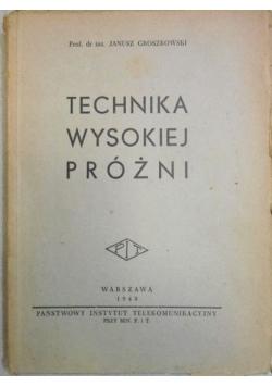 Technika wysokiej próżni, 1948 r.