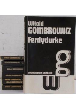 Ferdydurke/Bakakaj/Dziennik1953-1956/Dziennik 1957-1961/Dziennik 1961-1966/Kosmos/Trans-Atlantyk/Dramaty