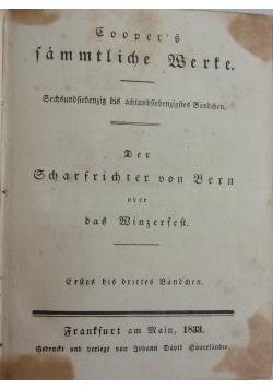 Cooper's amtliche Werte, 1833 r.