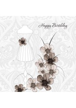 Karnet Swarovski kwadrat CL0112 Urodziny sukienka
