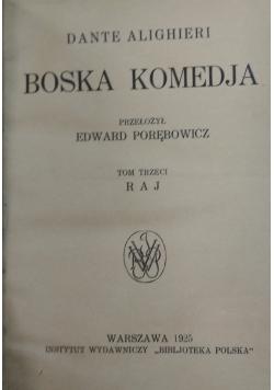 Boska komedia, 1925r.