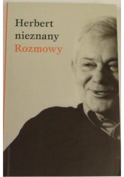 Herbert Nieznany. Rozmowy