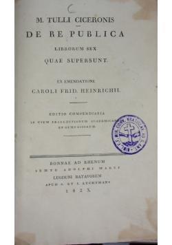 M. Tulli ciceronis de re publica, 1823r.