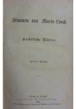 Stimmen aus Maria- Laach, 1876 r.