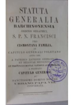 Statuta Generalia ordinis Seraphici