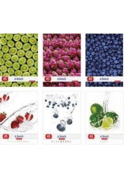 Zeszyt A5/80K kratka Fresh Fruit (5szt)