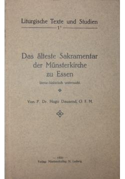 Das alteste Sakramentar der Munsterkirche zu Essen, 1920 r.