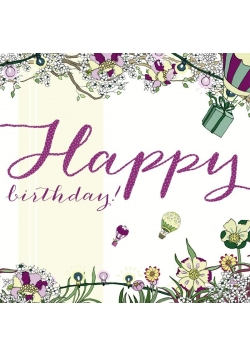 Karnet Swarovski kwadrat CL2118 Urodziny Balony