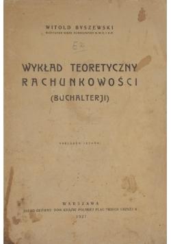 Wykład teoretyczny rachunkowości, 1927r