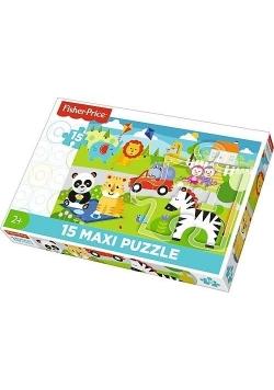 Puzzle 15 maxi Piknik z przyjaciółmi TREFL