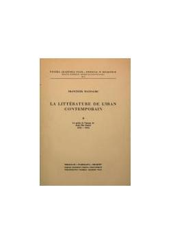 La litterature de l'iran contemporain, część II