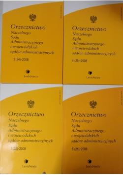 Orzecznictwo Naczelnego Sądu Administracyjnego i wojewódzkich sądów administracyjnych, zestaw 4 książek