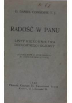 Radość w Panu ,1926r.