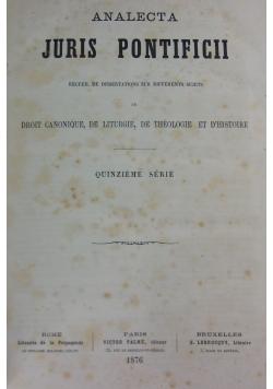 Analecta Juris Pontificii, 1876r.