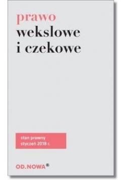 Prawo wekslowe i czekowe w.2018