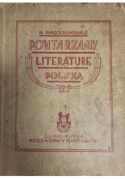 Powtarzamy literaturę Polską część I, 1946 r.