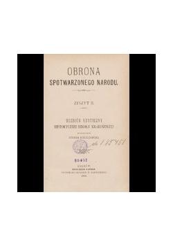 IV Tom Obrona Spotwarzonego Narodu,1894 r.