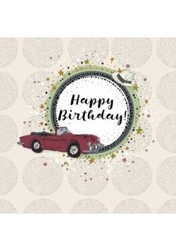 Karnet kwadrat CL0213 Urodziny samochód
