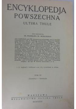 Encyklopedia Powszechna Tom IV,
