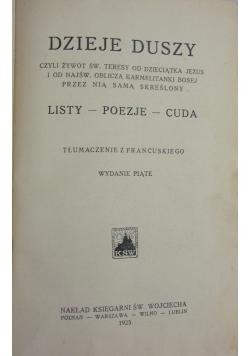 Dzieje Duszy czyli żywot Św. Teresy (wydanie piąte) ,  1925 r.