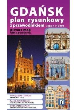 Plan kieszonkowy rys. - Gdańsk w.pol-ang 1:16 000