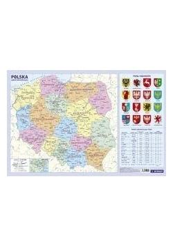Administracyjna mapa Polski. Podkładka na biurko