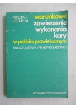 Warunkowe zawieszenie wykonania kary w polskim prawie karnym