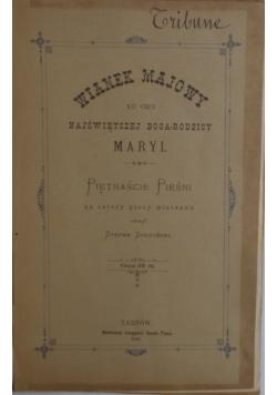 Wianek majowy, 1891 r.