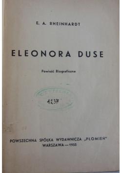 Eleonora Duse - powieść biograficzna, 1935