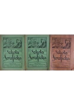 Szkoła Seraficka, zestaw 3 zeszytów, 1927r.