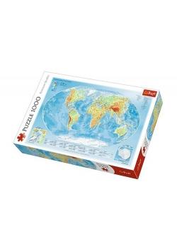 Puzzle Mapa fizyczna świata 1000
