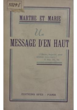 Message Den Haut, 1948r.