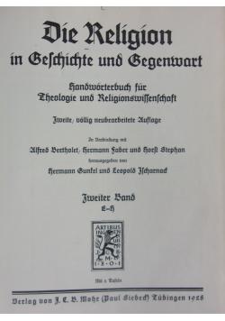 Die Religion in Gechichte und Begenwart, 1928 r.