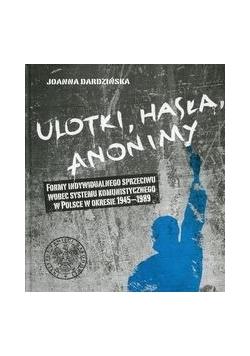 Ulotki, hasła, anonimy
